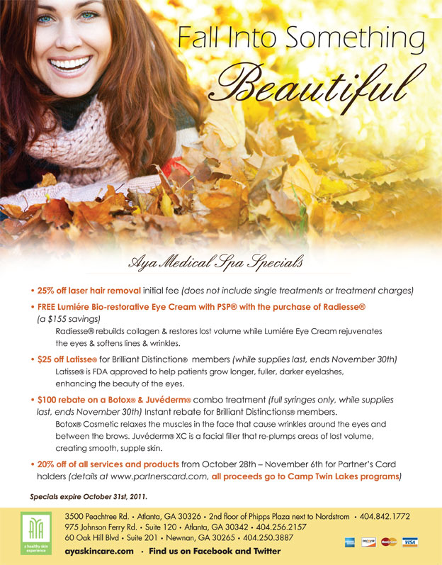 Save On Skin Care With Aya Medical Spa S October Specials